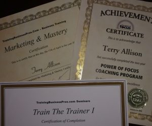 terry Allison Certificates